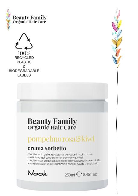 Crema-sorbetto-POMPELMO ROSA E KIWI BEAUTY FAMILY ORGANIC HAIR CARE NOOK STUDIO21 PARRUCCHIERI