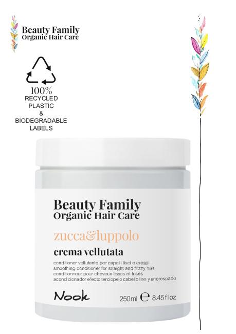 crema vellutata-Zucca-e luppolo beauty family organic hair care nook studio21 parrucchieri