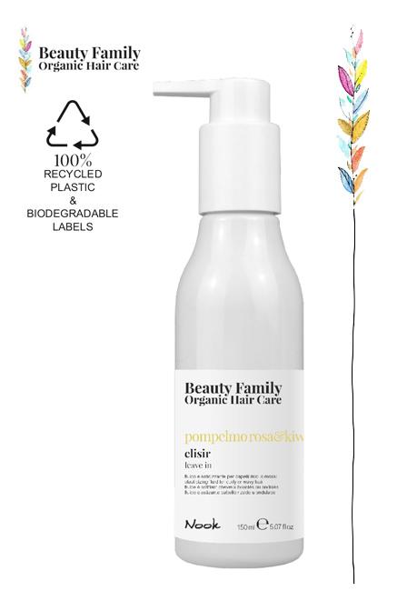 fluido-Elisir-pompelmo ROSA e kiwi beauty family organic hair care nook studio21 parrucchieri